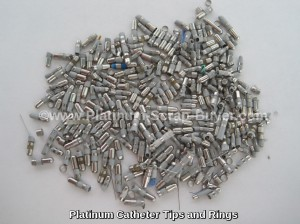 Platinum catheters tips and rings
