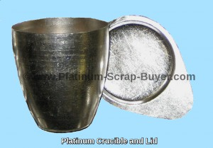 Platinum crucibles and platinum lid