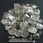 Platinum crucibles and lids