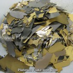 Platinum Flake with gold