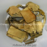 Platinum foil with gold