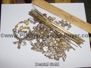 Dental gold scrap