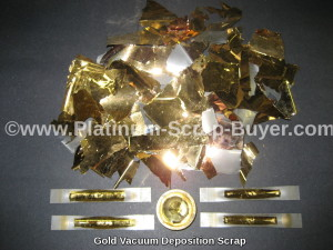 Gold Vacuum deposition