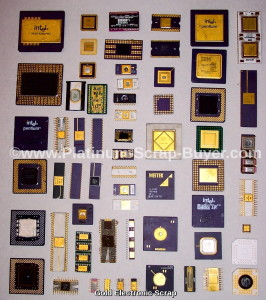 Gold electronic scrap